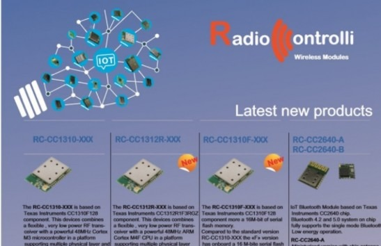 New modules CC13xx....