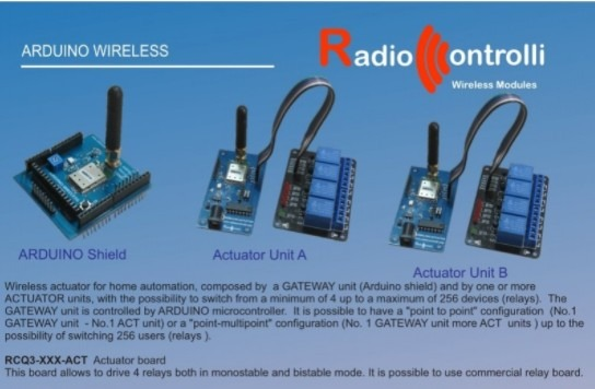 Wireless Actuator and Arduino Wireless long range
